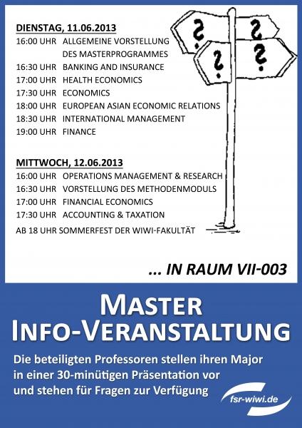 Bachelor- und Masterinformationstage